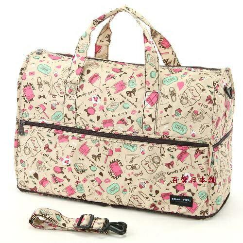 【百倉日本舖】日本進口HAPI+TAS折疊式中型波士頓包/旅行袋/手提袋/行李箱拉桿包(多色)