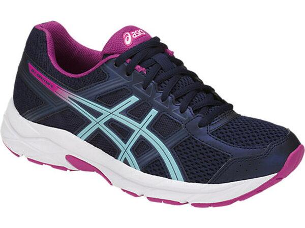 ASICSGEL-CONTEND4女鞋慢跑休閒機能緩衝透氣舒適藍紫【運動世界】T765N-5814