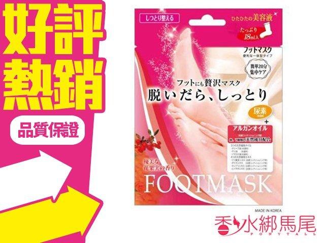 日本 Lucky 美容液 滋潤修護 足膜 1 回份?香水綁馬尾?