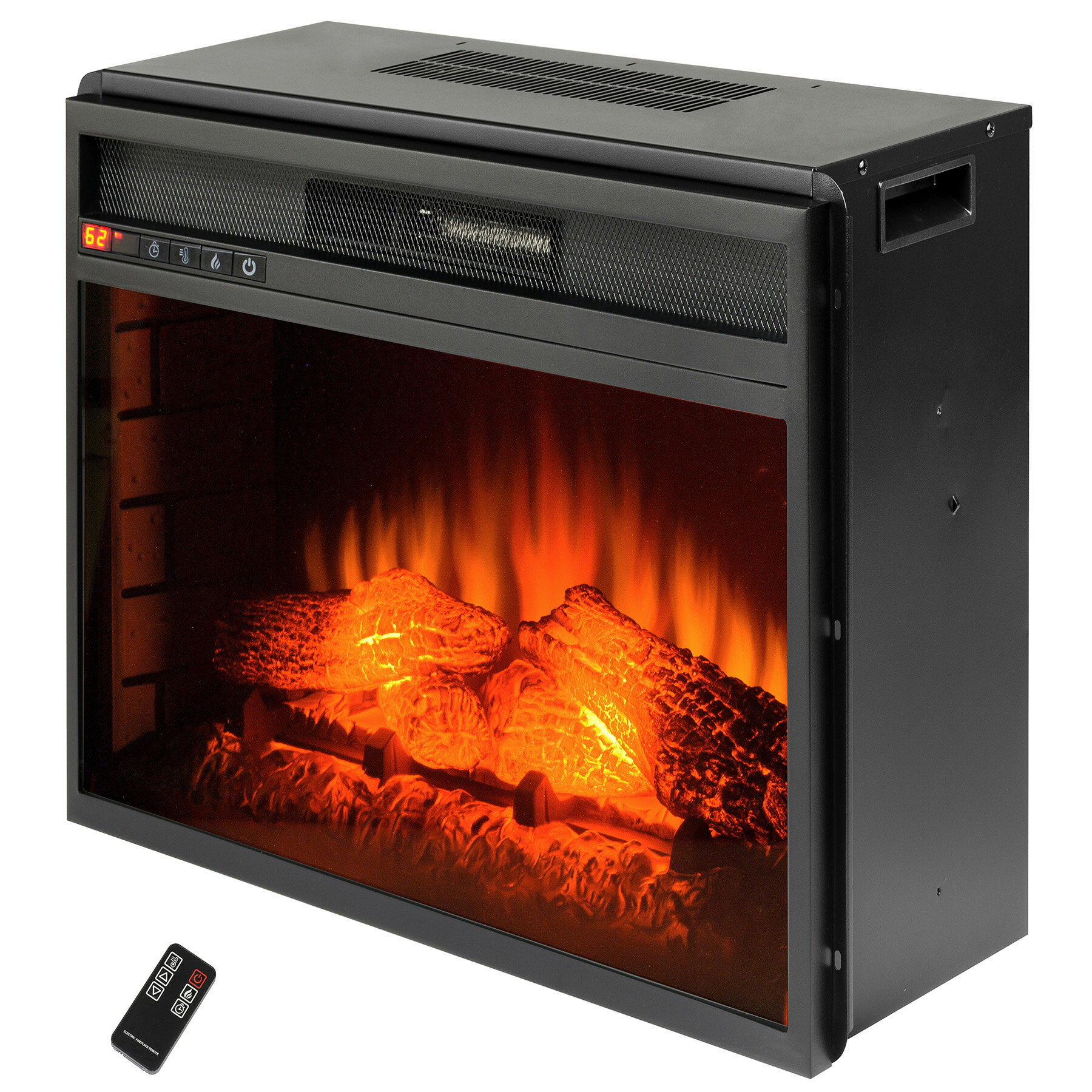 "AKDY 33"" Freestanding Insert 3D Flame Log Fuel Bed Electric Fireplace Heater Stove 3"