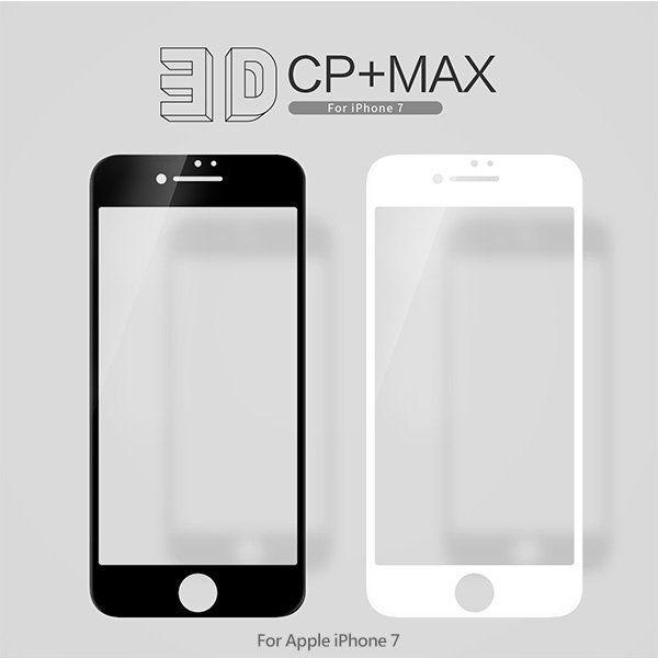 APPLEiPhone74.7吋NILLKIN3DCP+MAX疏油疏水3D滿版滿版鋼化玻璃貼9H硬度螢幕玻璃保護貼