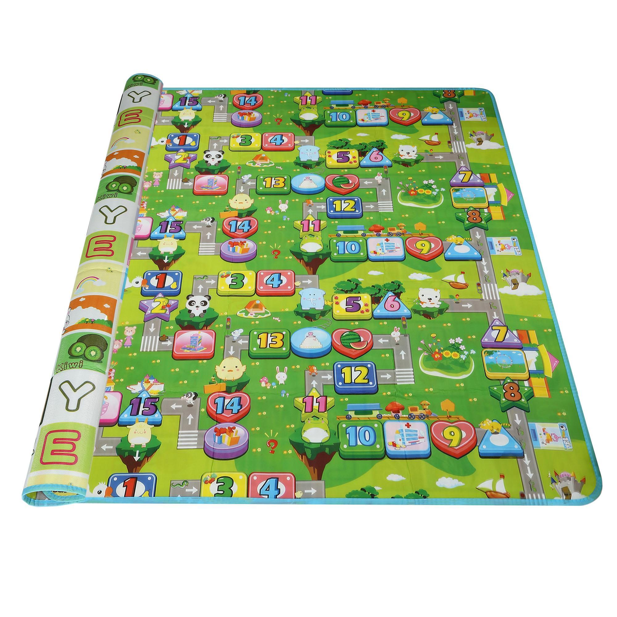 2x1.8m Children Play-Mat Picnic Cushion Crawling Mat Two Sides Playing Activity Pad 1