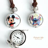 兒童節禮物Children's Day到兒童錶 迪士尼系列皮繩懷錶 【NE1949】柒彩年代