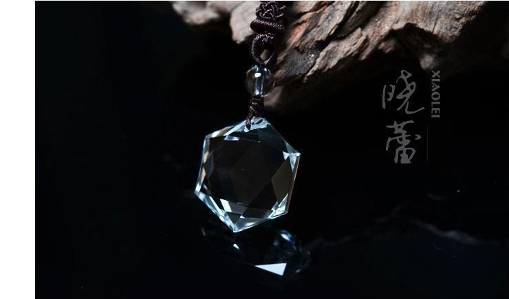 白水晶吊墜 六星刻面款 完美切割 能量巨大