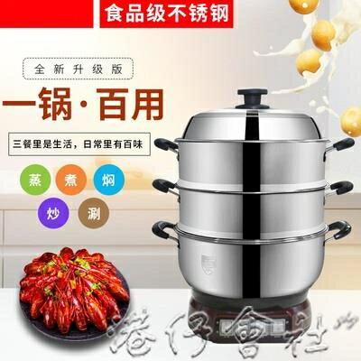 電熱鍋304不銹鋼家用帶蒸籠小型電炒鍋電煮鍋多功能電蒸鍋2-4人YYJ