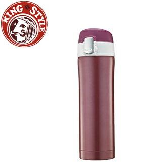 金時代書香咖啡 Tiamo 馬卡龍輕甜系列 彈蓋隨手杯420cc 保溫瓶 紅色