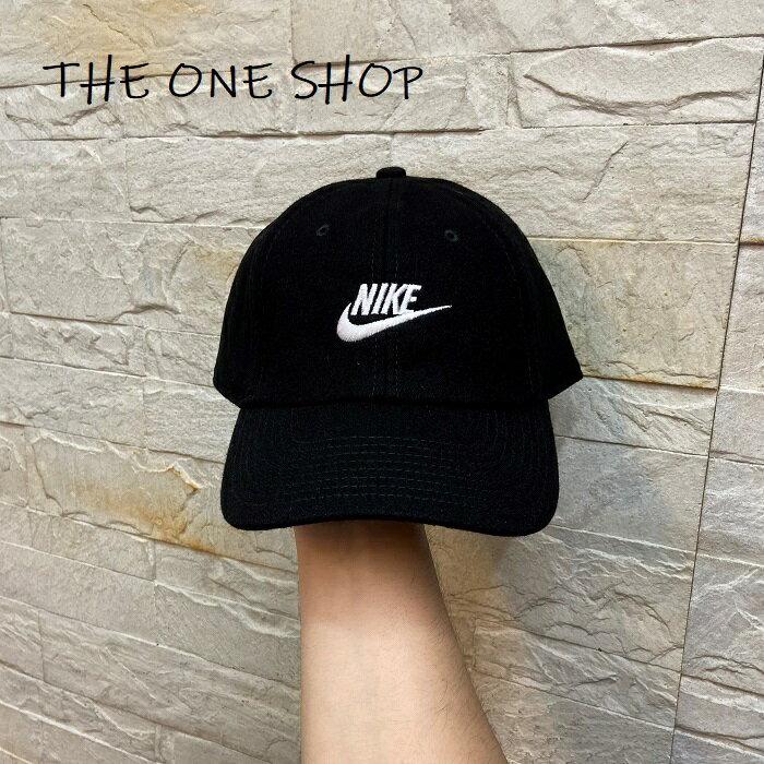 NIKE MISC 老帽 帽子 鴨舌帽 棒球帽 經典款 黑色 毛料 CK1326-010