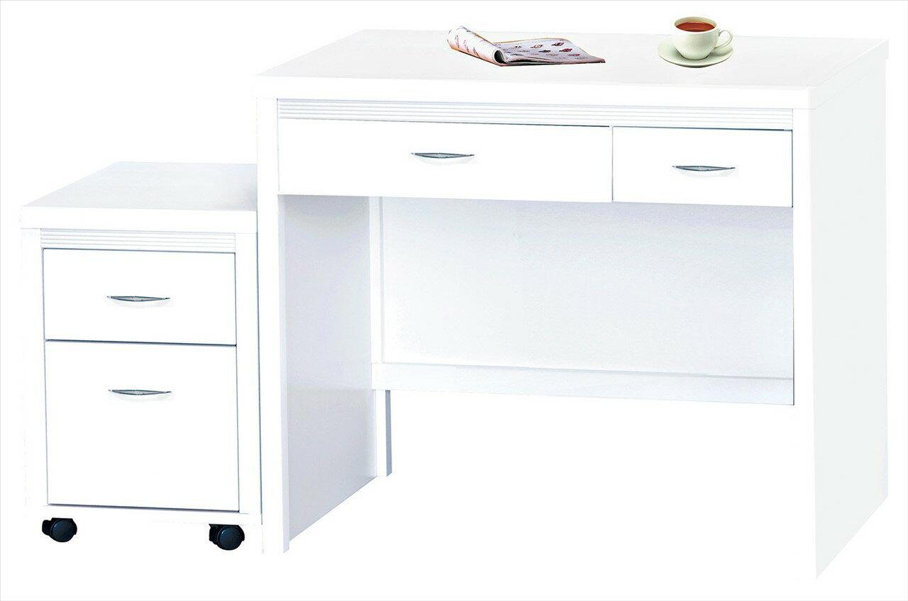 【石川家居】CE-495-07 艾拉白色三尺書桌 (不含活動櫃) 台中以北搭配車趟免運
