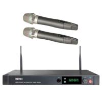 MIPRO ACT-2412A / ACT2412A 分離式天線1U雙頻道接收機 配2支充電式手握無線麥克風ACT-24HC