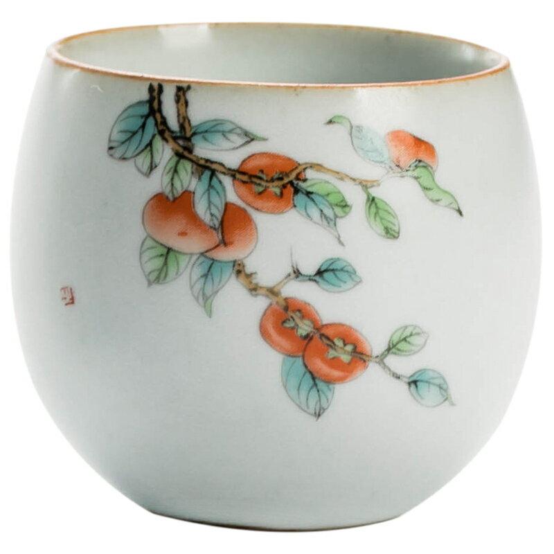 汝窯品茗杯個人單杯主人杯喝茶陶瓷茶具茶碗開片可養功夫茶具茶杯