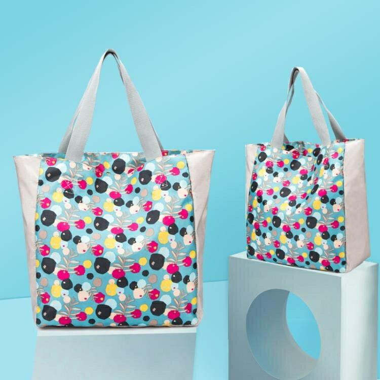 購物袋 手提單肩包衣物收納袋旅行整理包便攜購物袋環保袋手提袋大容量潮