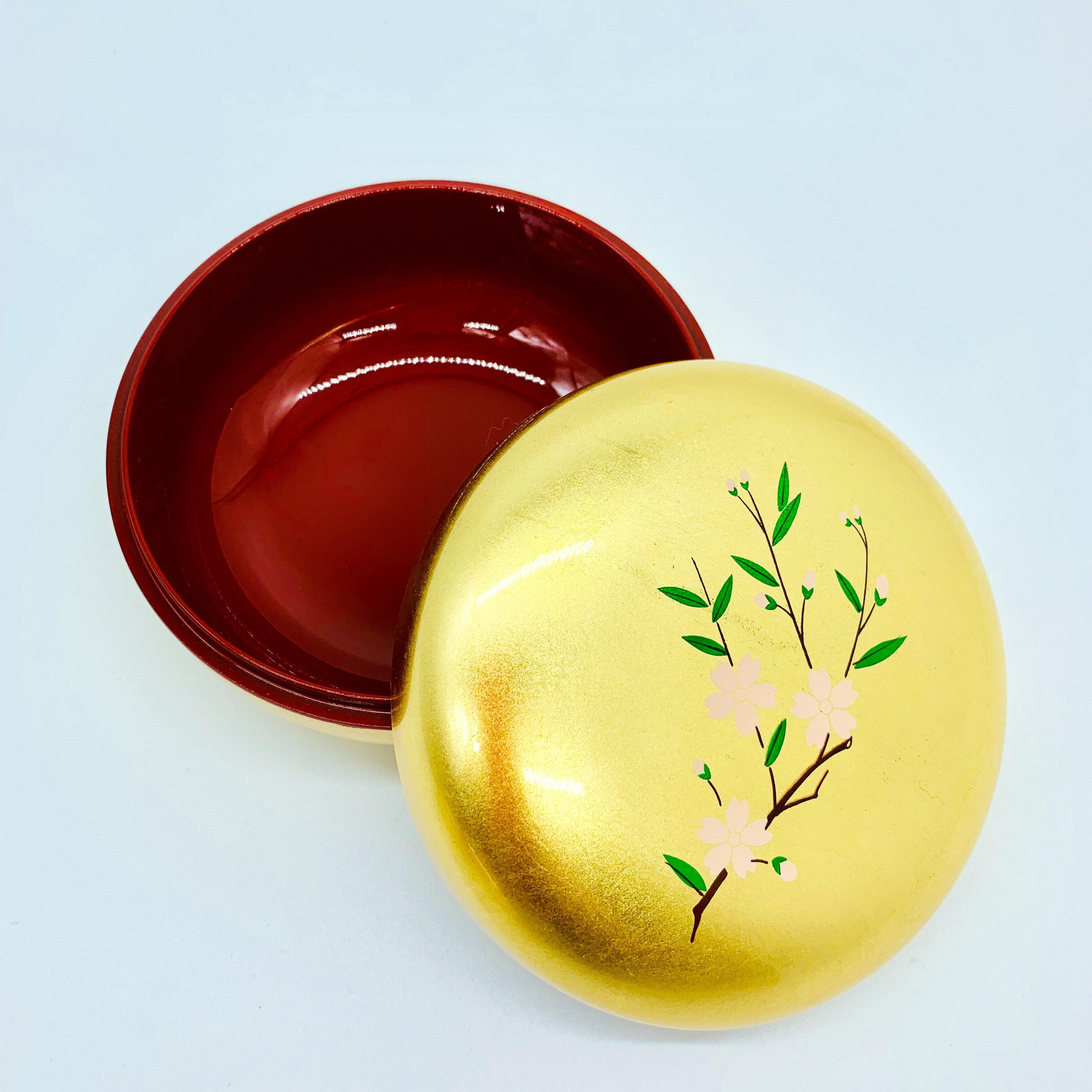 日本 金澤 金箔屋 金箔 菓子盒 櫻花 蹴鞠 杜若 日本直送 職人手工貼製  漆器 放點心最棒的選擇 5