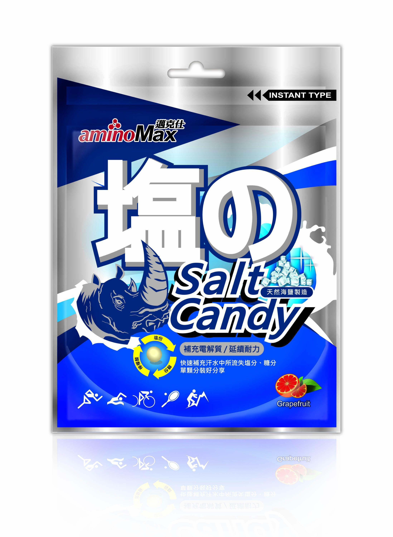 MAX 邁克仕 海鹽軟糖 b群配方、天然海鹽、富含礦物質,葡萄柚薄荷清香,每包15顆,20