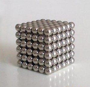 釹鐵硼磁球5mm 魔力磁球N35釹鐵硼益智球 銀色216顆鐵盒裝 巴克球 359元