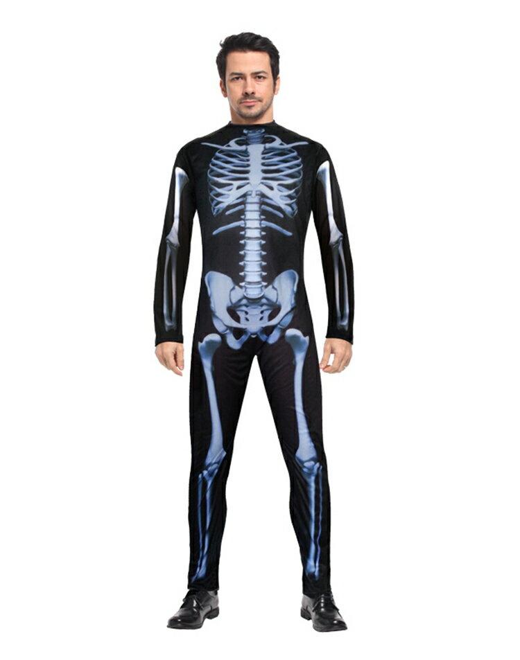 X射线【W275711】骷髅连身装, 舞会/尾牙/万圣/圣诞/大人变装/cosplay/表演/摄影/写真/话剧/舞台剧