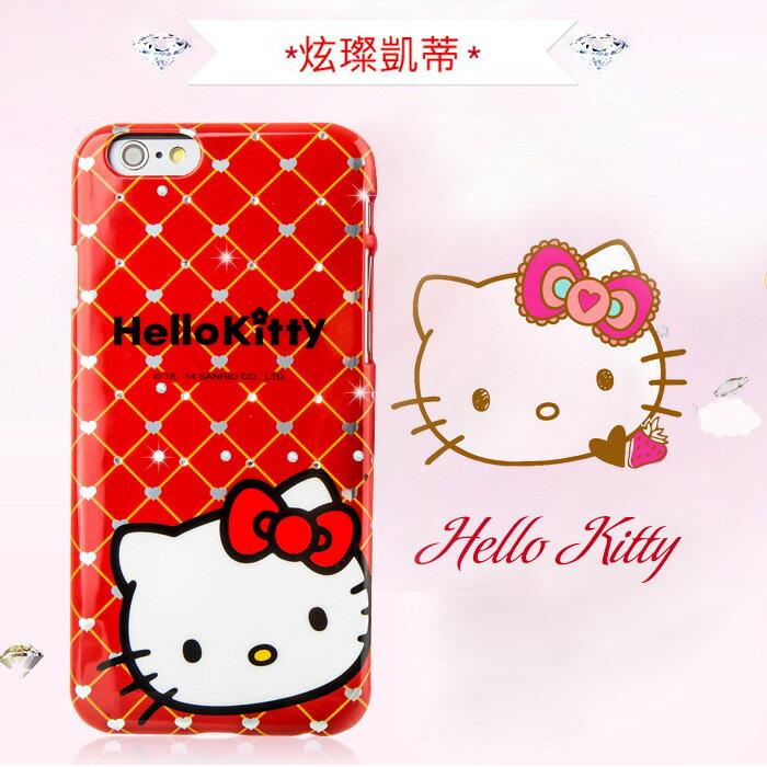 X-doria 三麗鷗 Sanrio Hello Kitty 炫璨凱蒂 PC 保護殼 4.7吋/5.5吋 iPhone 6 PLUS/i6+/i6 手機殼 手機套 保護套 水鑽殼 硬殼 背蓋/TIS購物館