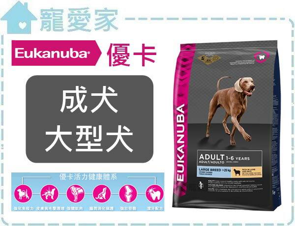 ☆寵愛家☆優卡Eukanuba狗糧-成犬大型犬-9公斤