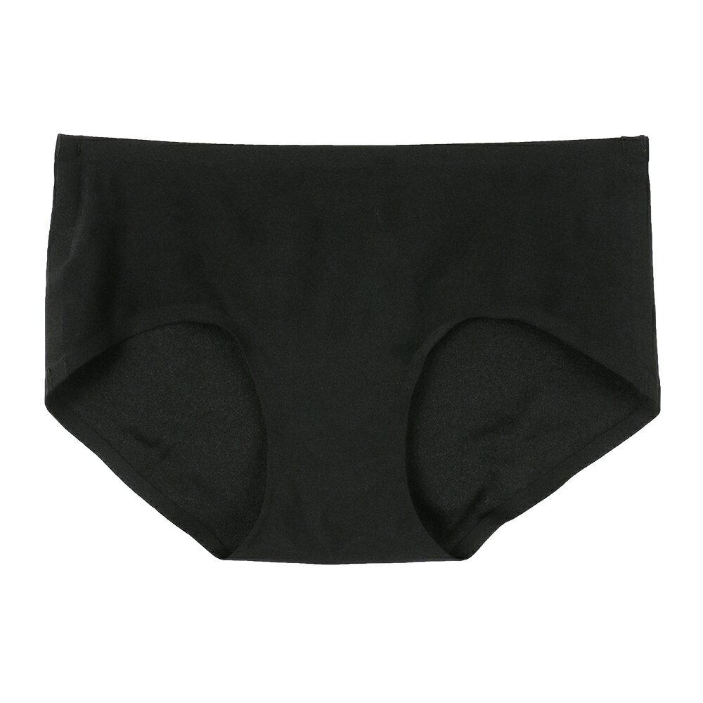 【Emon】親膚 零著感無痕三角褲(黑) 0