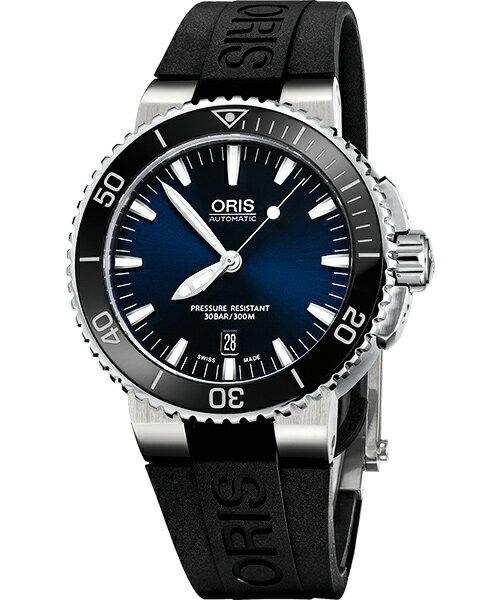 ORIS 豪利時 0173376534135-0742634EB時間之海專業潛水腕錶/深藍面43mm