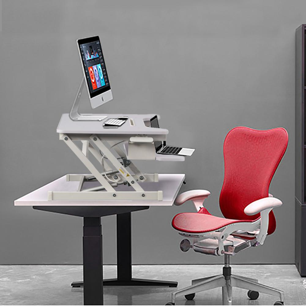 Stupendous Adjustable Height Standing Desk Stand Up Desk Sit Stand Desk With Keyboard Tray Download Free Architecture Designs Embacsunscenecom