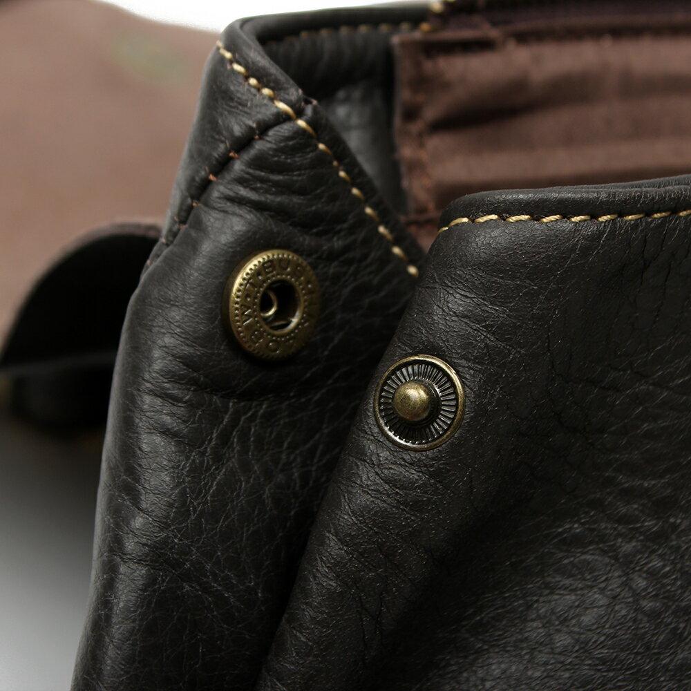 【BEIBAOBAO】英倫風情植鞣真皮後背包(共兩色:氣質黑 ) 7