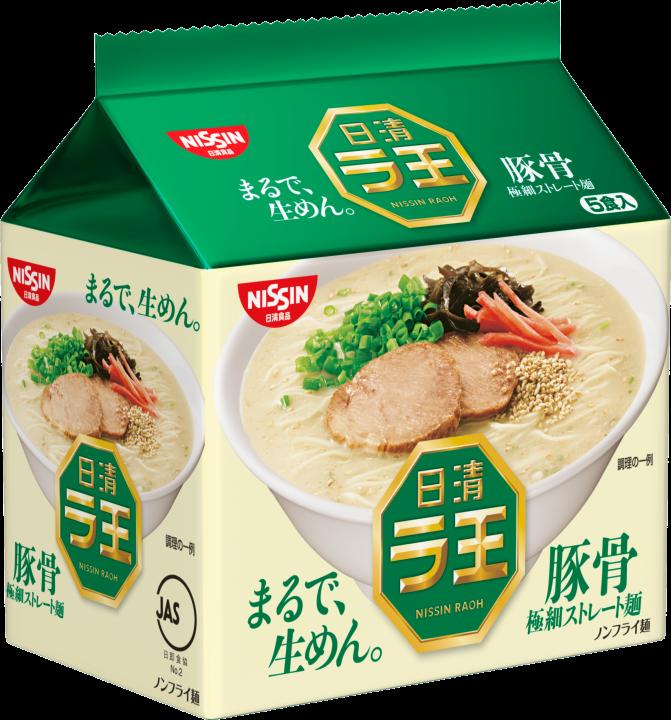 【橘町五丁目】日本日清 麵王 拉王5入包麵-豚骨風味