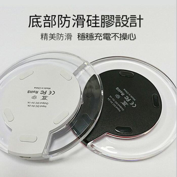 糖衣子輕鬆購【BA0041】K9無線充電板蘋果8安卓三星手機USB發射器無線充電器Qi 超薄無線充電器