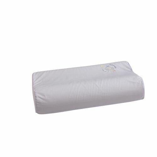 ★衛立兒生活館★康貝 Combi 小魚銀纖乳膠兒童枕+枕套(粉藍)