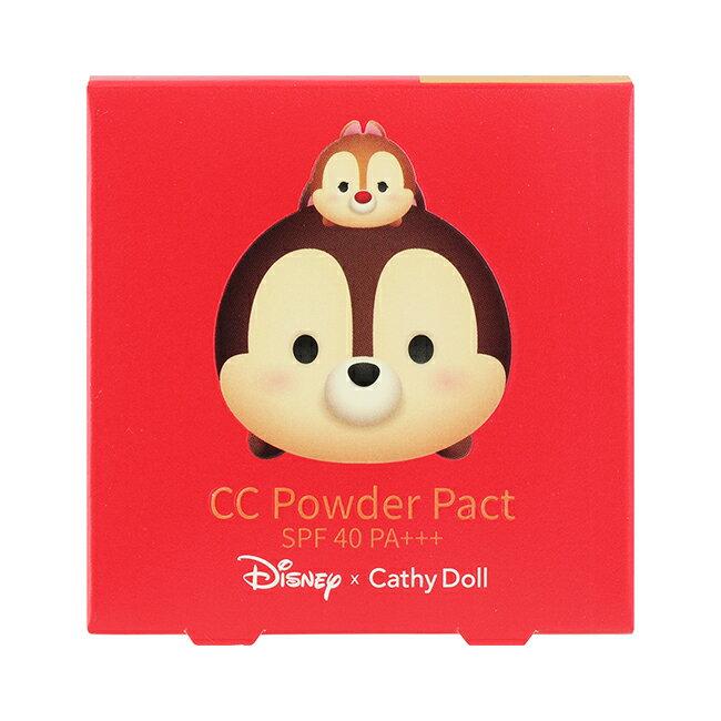 凱蒂娃娃迪士尼泰限量長效無暇柔霧粉餅4.5G #25 自然膚色-Chipmunk - 限時優惠好康折扣