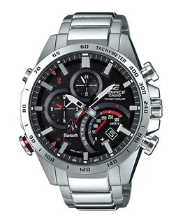 CASIOEDIFICEEQB-501XD-1A太陽能藍牙智慧指針腕錶黑面48mm