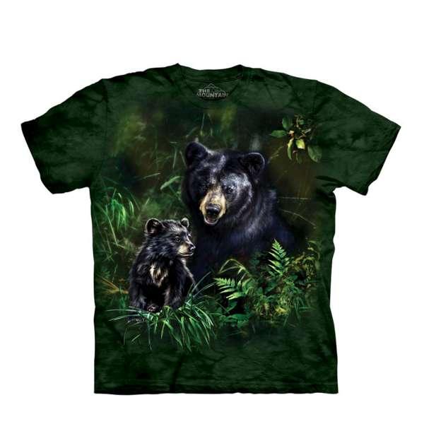 【摩達客】美國進口The Mountain黑熊之愛(預購) 純棉環保短袖T恤