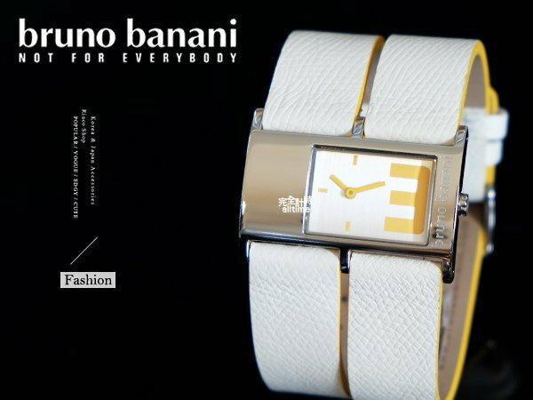 【完全計時】手錶館│德國時尚原裝bruno banani 大數字 長方型名媛 BR21044 大錶徑 質感黃