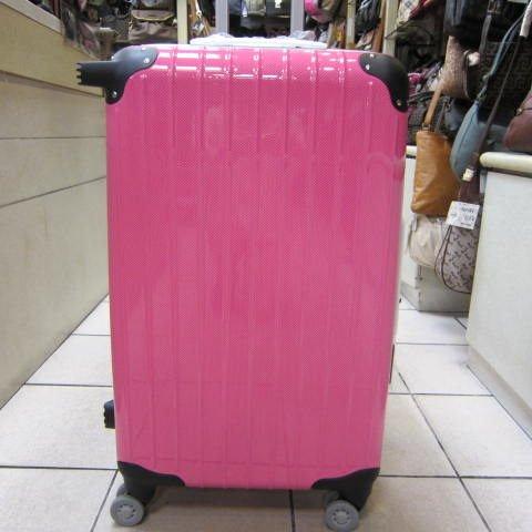 ~雪黛屋~18NINO81美國24吋硬殼拉桿行李箱ABS+PC超輕材質8大加寬大輪設計更平穩推拉#2568粉紅