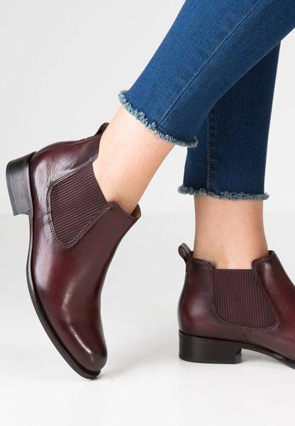 Gabor 英倫復古秋冬短靴  咖啡  粗低跟│寬楦│皮革│側U 1