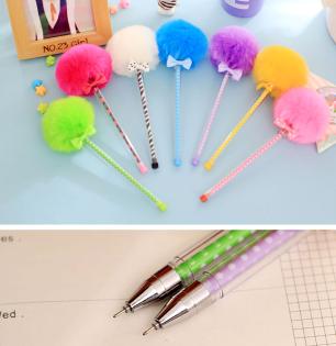 【aifelife】彩色絨毛中性筆絨毛球筆球球造型筆書寫文具用品開幕活動婚禮小物簽名筆毛絨絨贈品禮品