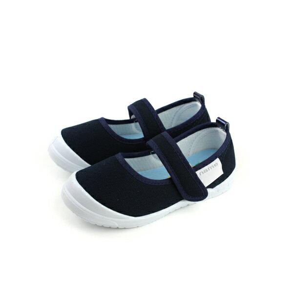 CHILDRENWITH小女生鞋娃娃鞋室內鞋深藍中童童鞋S001no104