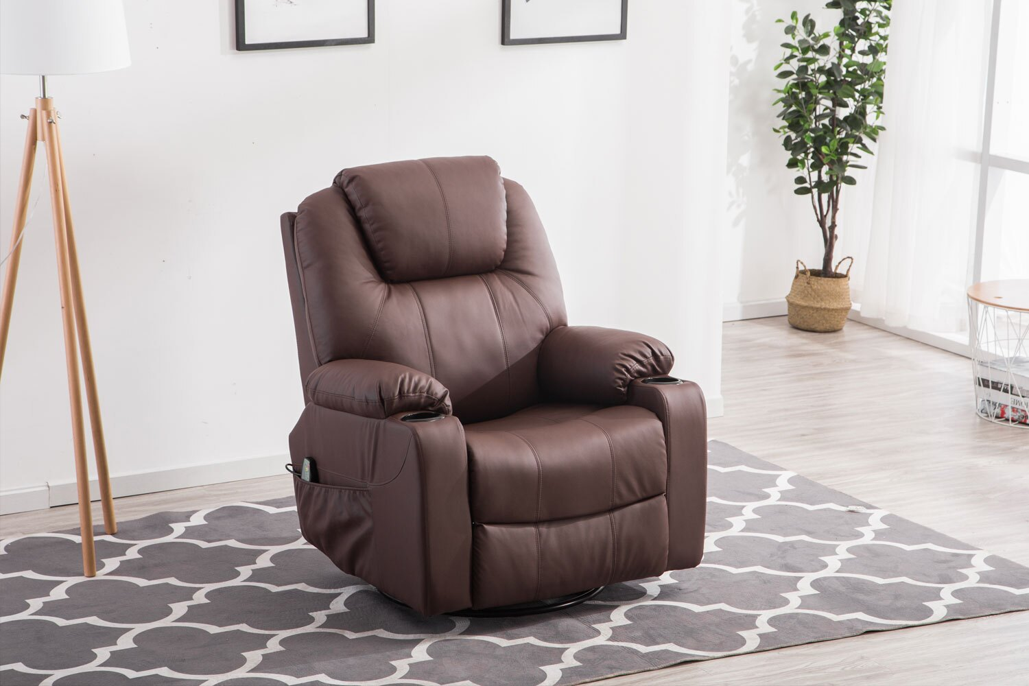 manual contemporary sofa back recliner reclining chair foldable rakuten leather costway shop product