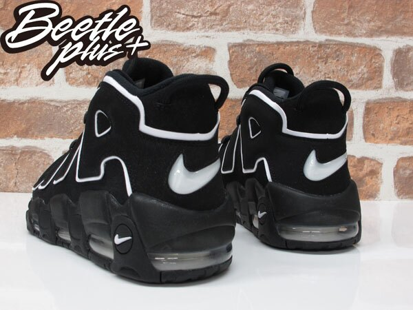 男生BEETLE NIKE AIR MORE UPTEMPO PIPPEN 黑白 大AIR 籃球鞋 414962-002 2