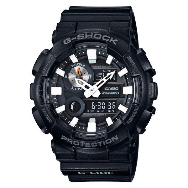 CASIO G-SHOCK GAX-100B-1A衝浪運動雙顯時尚腕錶/黑面55mm
