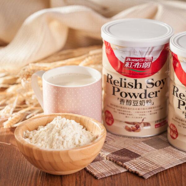 紅布朗香醇豆奶粉(400g罐)
