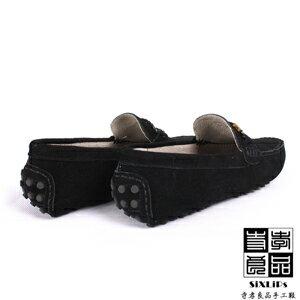 寺孝良品 義式雅痞編織麂皮豆豆鞋 黑 4