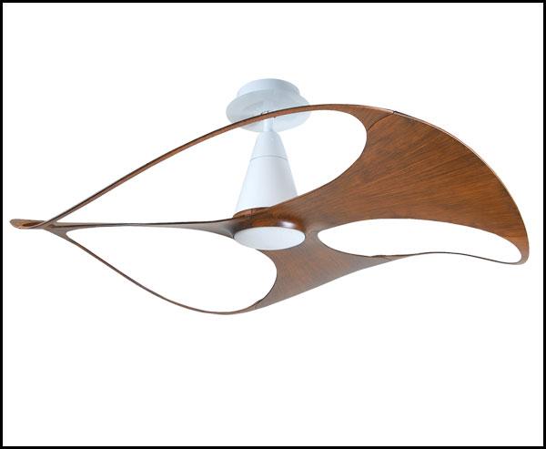 【Swish設計師聯名款】★白色胡桃木紋3葉塑膠葉片芬朵VENTO48吋110V吊扇藝術吊扇★永光照明