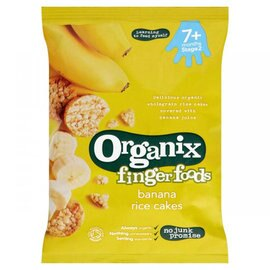 『121婦嬰用品』英國Organix有機寶寶香蕉米餅(七個月)