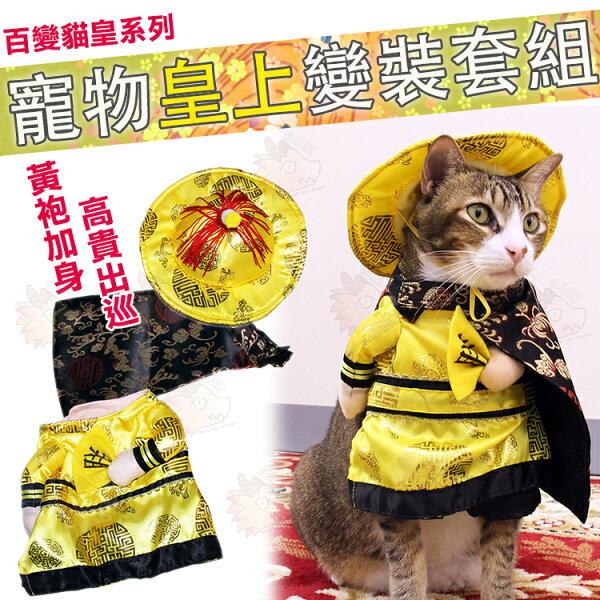 小咖龍賣場:【犬奴必備】小型犬皇上皇帝出巡COSPLAY朕造型寵物變裝貓咪可用長毛臘腸貴賓賣萌手工製作