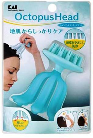 日本貝印~八爪頭皮按摩洗頭刷~按摩器