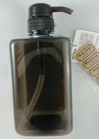 日本ECHO~角型按壓空瓶-600ml黑色