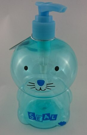 日本ECHO~動物造型按壓空瓶-500ml藍色