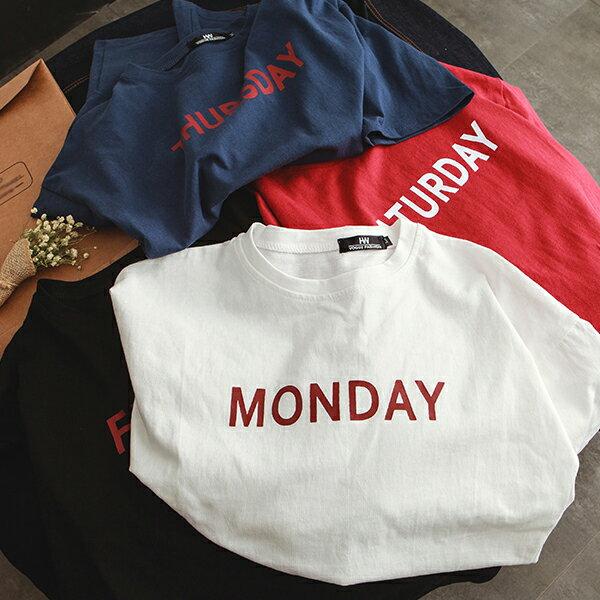 T恤 情侶裝 客製化 MIT台灣製純棉短T 班服◆快速出貨◆獨家配對情侶裝.每天.星期一 ~ 星期天【Y0712】可單買.艾咪E舖 3