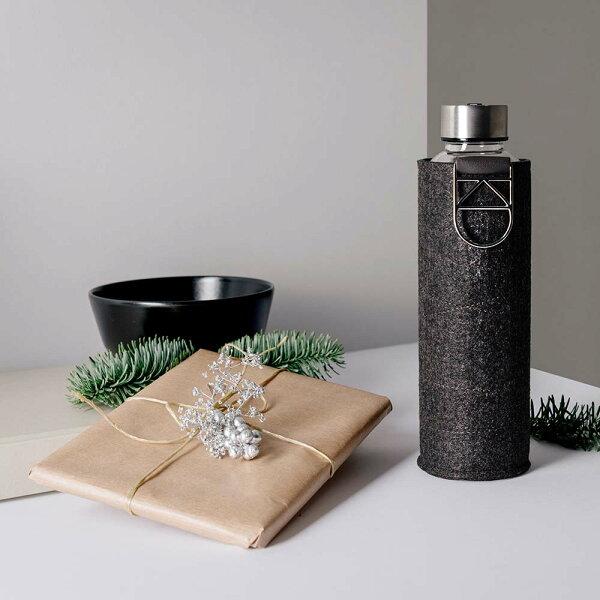 《EQUA》耐熱氈套玻璃瓶550ml銀扣環