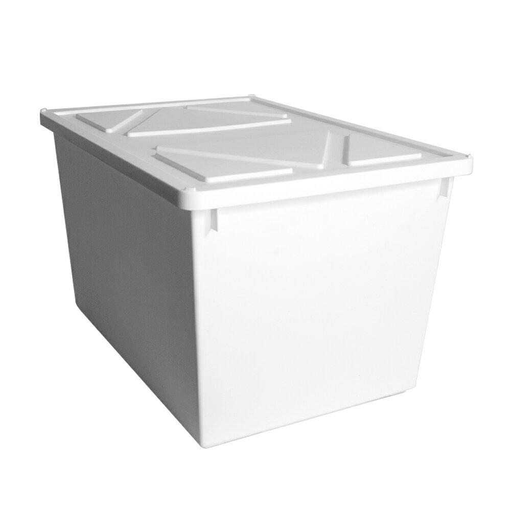 HOUSE【005162-01】純白牛奶附蓋收納盒-直角8號-大高桶(6入) 台灣製造
